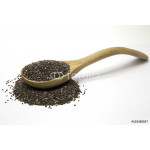 Chia seeds in a wooden spoon 64239