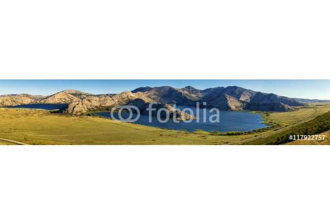 Panorama of Sibinskie Lakes - a group of five lakes located in Eastern Kazakhstan. 64239