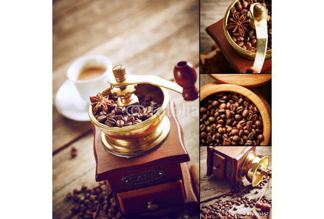 Coffee grinder with coffee beans 64239