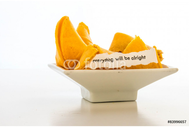 Bild auf Leinwand open fortune cookie - EVERYTHING WILL BE ALRIGHT 64239