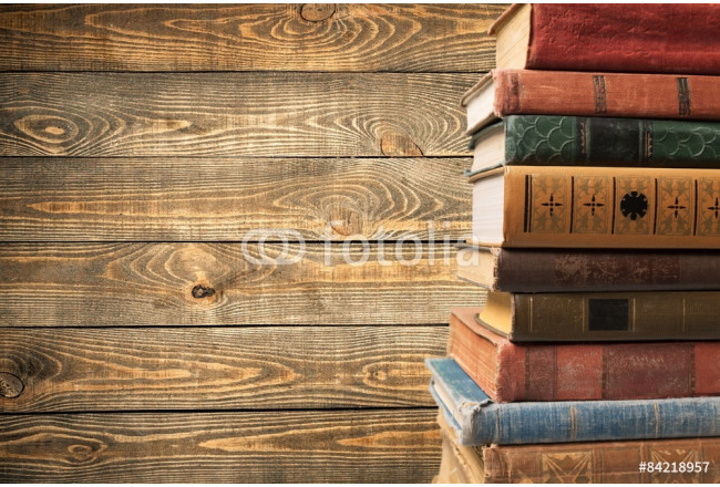 Books, old, stacked. 64239