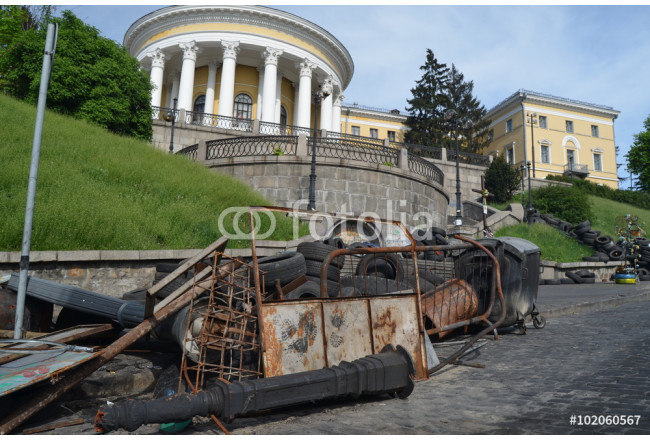Downtown of Kiev,vandalised during Revolution of Dignity 64239