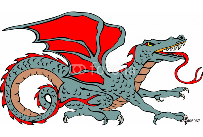 Colored dragon monster cartoon character 64239