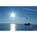silhouette of a fishing boat 64239