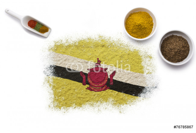 Spices forming the flag of Brunei.(series) 64239