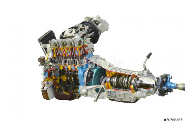 Car transmission isolated on a white background 64239