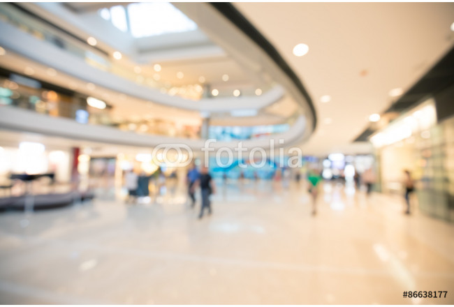 Asia shopping mall blurred for background 64239