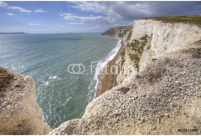 White cliff along Jurassic coast in England 64239