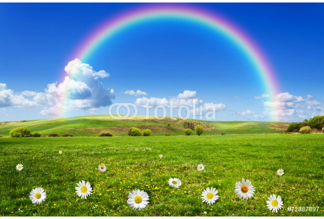 Painting rainbow background 64239