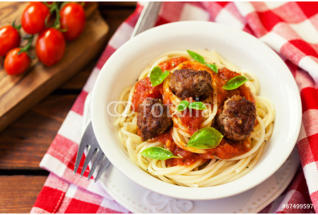 Spaghetti with Meatballs 64239