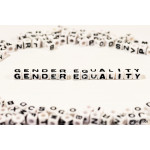 GENDER EQUALITY on white cube 64239
