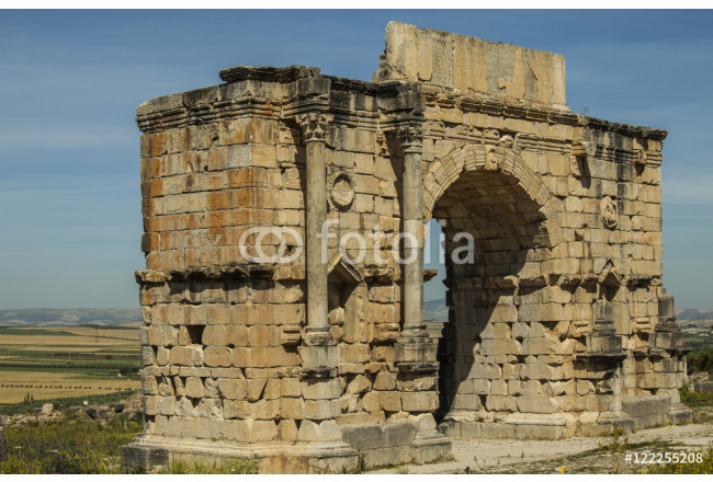 North side of the Arch of Caracalla at Volubilis 64239