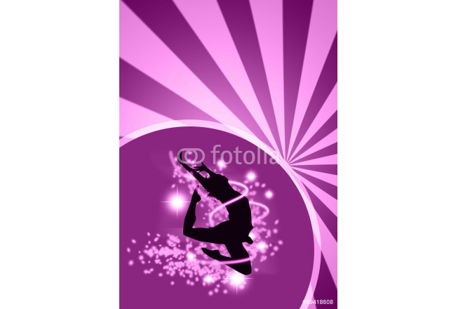 Dance girl background with space 64239