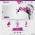 website template for flower shop and web shop 64239