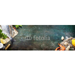 Food background with Seafood and Wine 64239