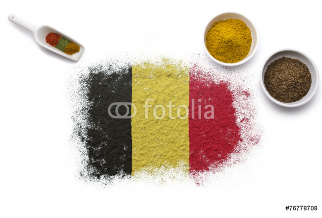 Spices forming the flag of Belgium.(series) 64239
