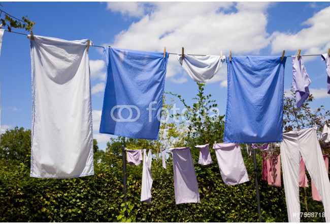 clothes drying on the ropes 64239