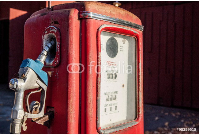 Cuadro decorativo Vintage, red, gas or petrol pump; memory of road trips 64239