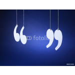 quotation marks inverted commas - Stock Image 64239