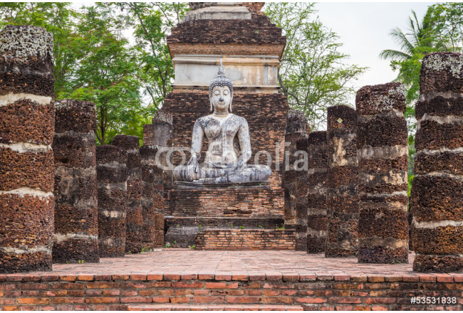 Buddha Statue in Wat Mahathat Temple 64239