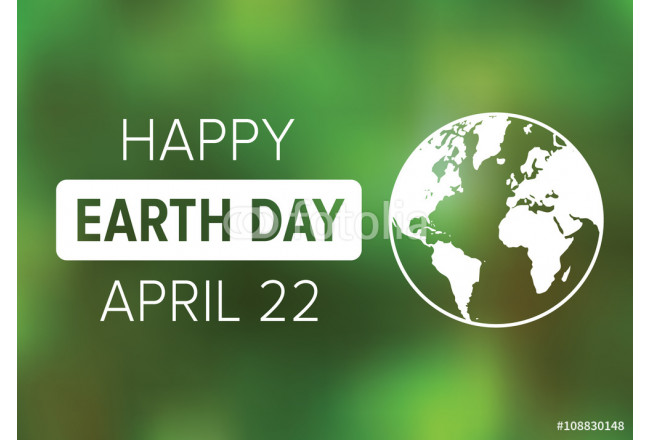 Happy Earth Day on April 22 poster display or greeting card vector illustration 64239