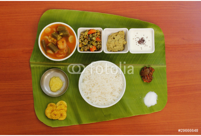 Bild auf Leinwand South Indian Simple Meals 64239