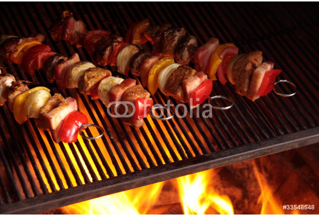 Skewers on the grill 64239
