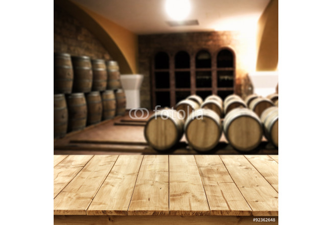 table of free space and background of barrels  64239