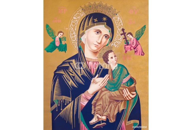 Typical catholic image of Madonna with the child (Our Lady of Perpetual Help) 64239