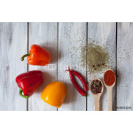 Spices on white background 64239