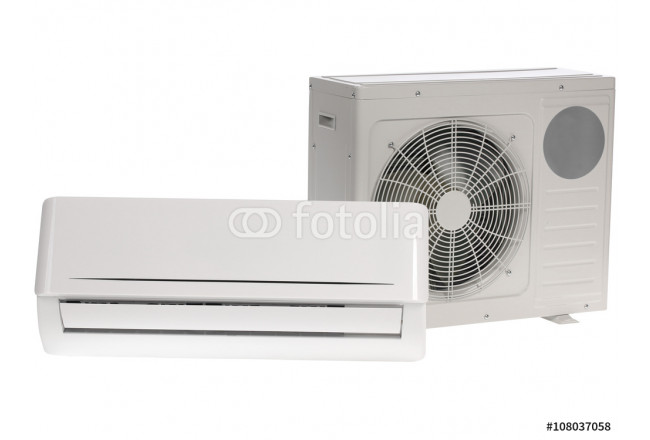 Air conditioner isolated on white 64239