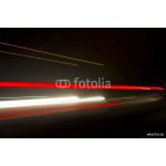 Car ligth trails. Art image . Long exposure photo taken in a tun 64239