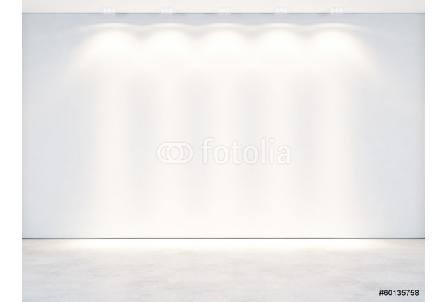 white wall with spotlights 64239