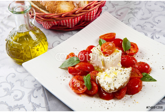 goat cheese with tomatoes 64239