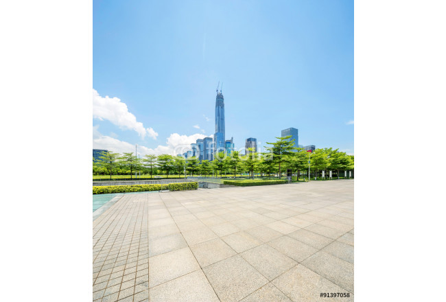empty square and skyscrapers of shenzheng in china 64239