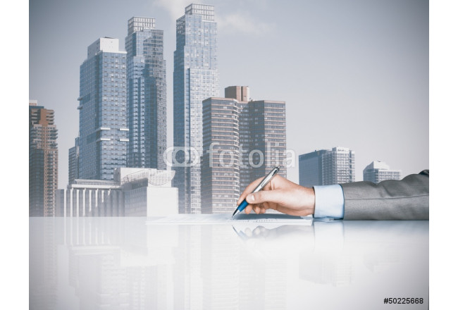 Businessman is signing a contract 64239