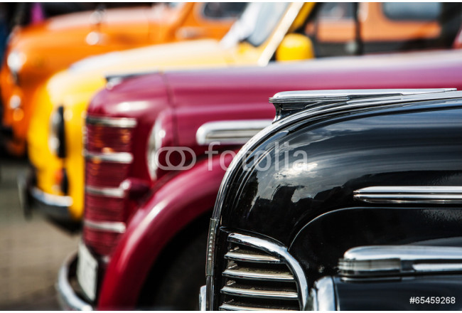 parade of vintage luxury cars 64239