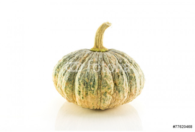 green pumpkin fruit isolated on white background 64239