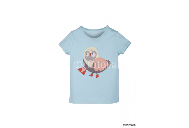 children T-shirt with a pattern isolated on white 64239