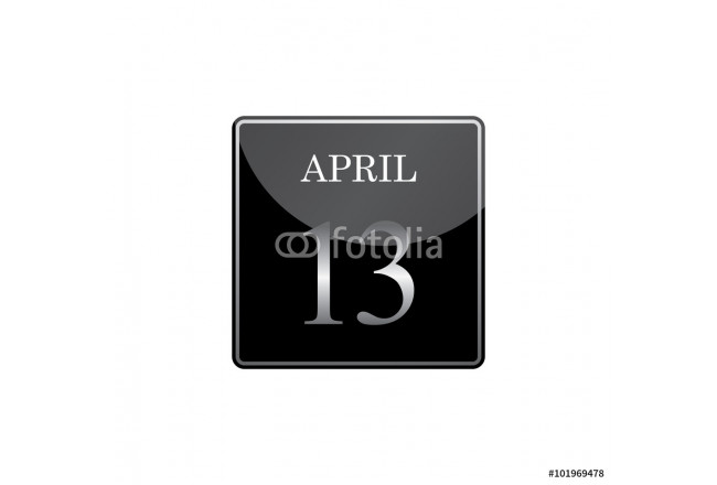 13 april calendar silver and glossy 64239