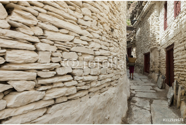 The rural residence on the mountain in Marpha village of Annapur 64239