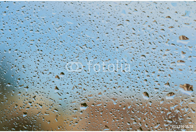 Water drops on the glass after rain 64239