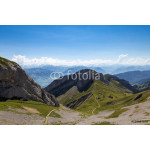 Amazing view of mountain ranges with foot path 64239