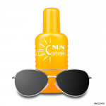 isolated sun cream with sunglasses 64239