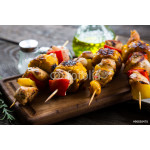 Kebab from turkey with vegetables 64239