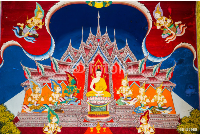 Thai style painting at temple 64239