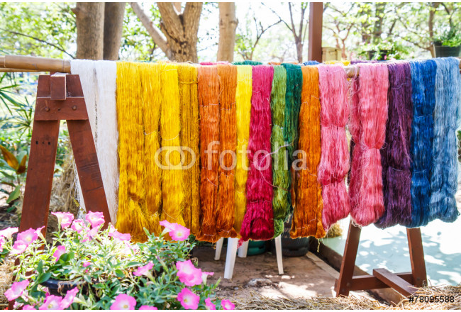 Raw silk thread color for background. 64239