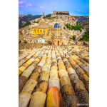 Vertical view of roofs and beautiful village Ragusa in Sicily 64239