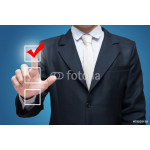 Businessman touch checking mark checklist marker Isolated 64239