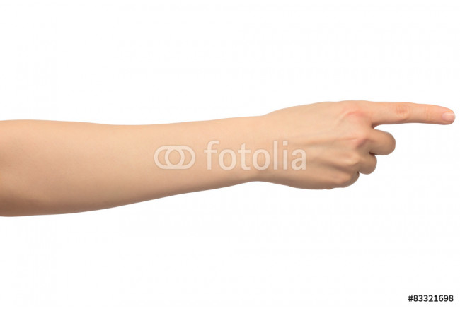 Isolated image with human hand shows gestures 64239